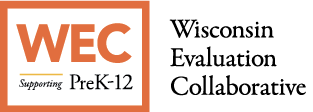 WEC Wisconsin Evaluation Collaborative Supporting Pre K-12 Logo